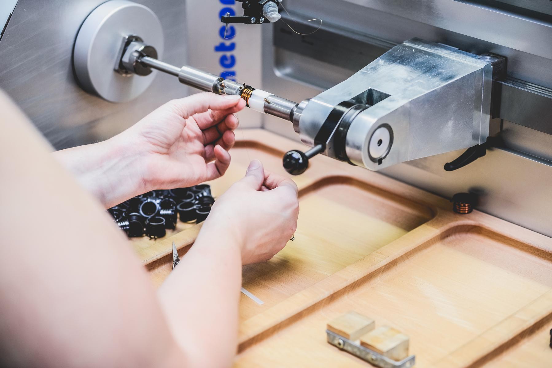 Spulenproduktion bei Müller Spülen